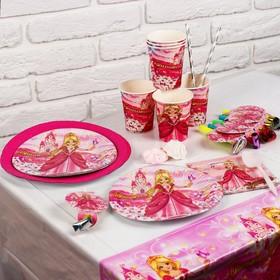 Набор бумажной посуды «Праздник принцессы», на 6 персон