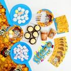 Набор бумажной посуды «Пират», 6 стаканов, 6 тарелок, 6 салфеток, 6 дудок, 6 ложек, скатерть