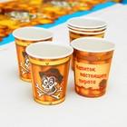 Набор бумажной посуды «Пират», 6 стаканов, 6 тарелок, 6 салфеток, 6 дудок, 6 ложек, скатерть - фото 951129