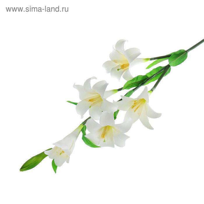 """Цветы искусственные """"Белый лилейник"""""""