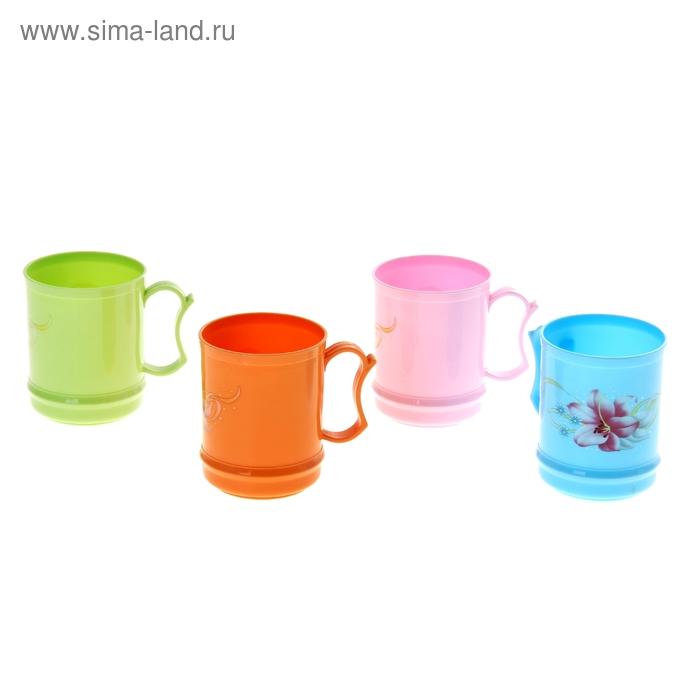 """Кружка пластиковая 250 мл """"Мелодия"""", цвета МИКС"""
