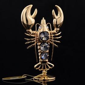 Сувенир  «Рак», на подставке, 7,5×3×12 см, с кристаллом Сваровски