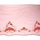Ткань розовая с красным узором, 75 × 640 см