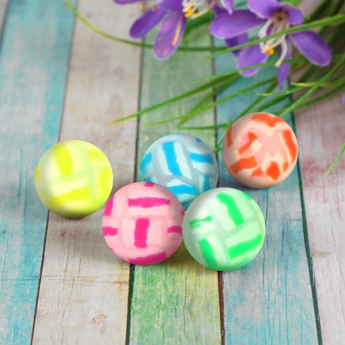 """Мяч каучуковый """"Трещины"""", 2,5 см, цвета МИКС"""