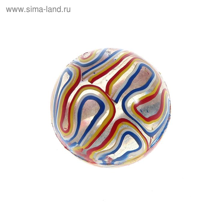"""Мяч каучук """"Разводы"""" 4,5 см, цвета МИКС"""