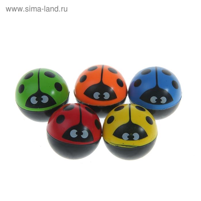 """Мяч каучук """"Божья коровка"""" 4,5 см, цвета МИКС"""
