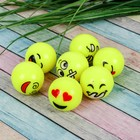 """The ball rubber """"Emoticons"""" is 3.2 cm,"""