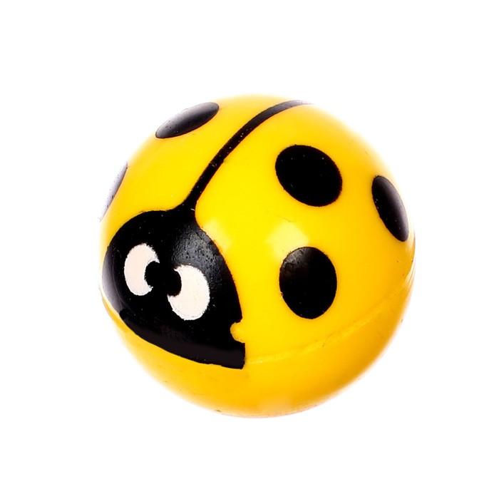 """Мяч каучуковый """"Божья коровка"""", 2,7 см, цвета МИКС"""