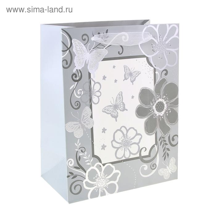 """Пакет ламинированный """"Фоторамка"""", цвет серый"""