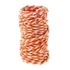Шпагат декоративный, цвет оранжевый с белым