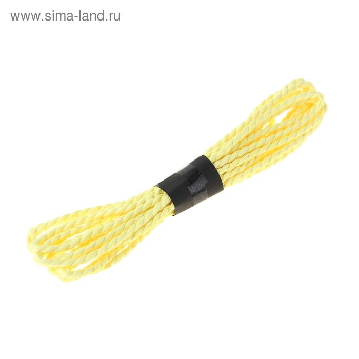 Шпагат декоративный, цвет жёлтый
