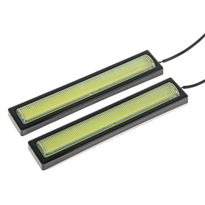 Дневные ходовые огни 1 LED-COB, 12 В, 2 шт., свет белый