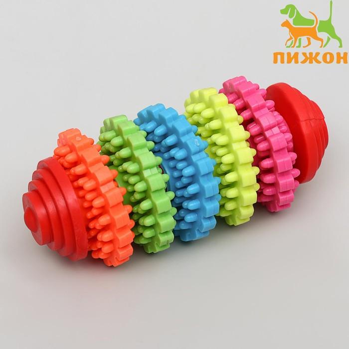 """Игрушка литая """"Шестеренки"""" (5 вращающихся колец), TPR, 10 см, микс цветов"""