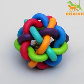 """Игрушка резиновая """"Молекула"""" с бубенчиком, 6 см"""