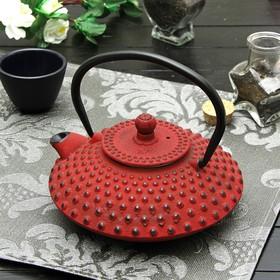 """Чайник с ситом 800 мл """"Марокко"""", цвет красный, с эмалированным покрытием внутри"""