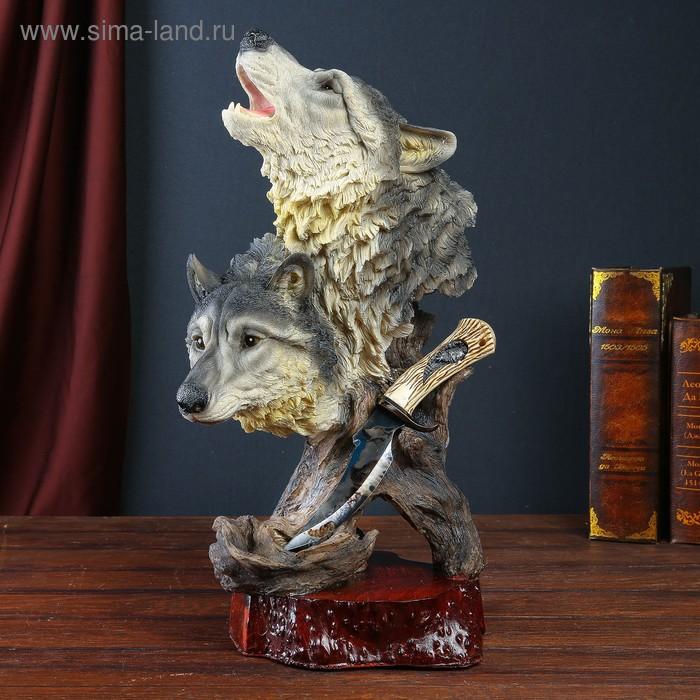 "Сувенирное изделие на подставке ""Волки"""