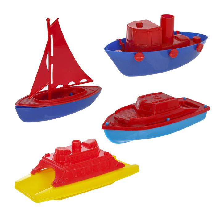 """Песочный набор """"Кораблики"""", 4 предмета, цвета МИКС"""
