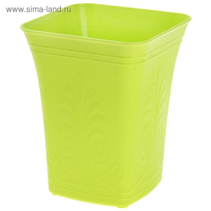 """Ведро для мусора 23*23*29 см """"Узор"""", цвета МИКС"""
