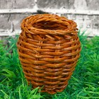 Кашпо «Бочонок», 5×5×6 см, бамбук
