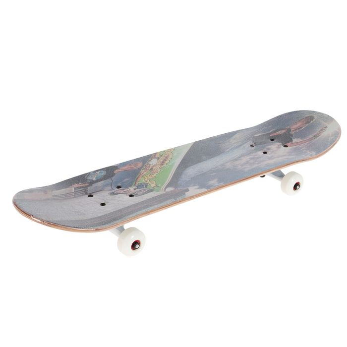 """Светящийся скейтборд """"Скорость"""", алюминиевая рама, колеса PU d= 55*30 мм, цвета МИКС"""
