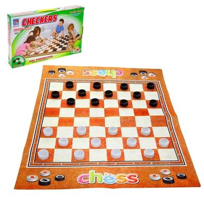 Игра напольная «Шашки», размер игрового поля 80 х 65 см