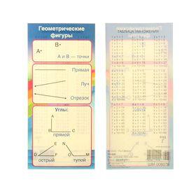 Карточка-шпаргалка 'Геометрические фигуры', 6х13 см Ош