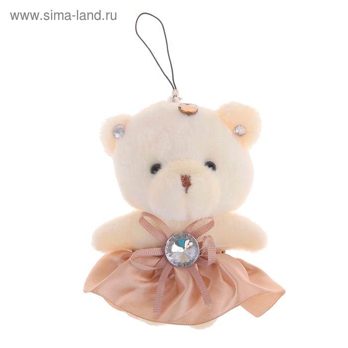 """Мягкая игрушка-подвеска """"Мишка"""" в юбочке, цвет бежевый"""
