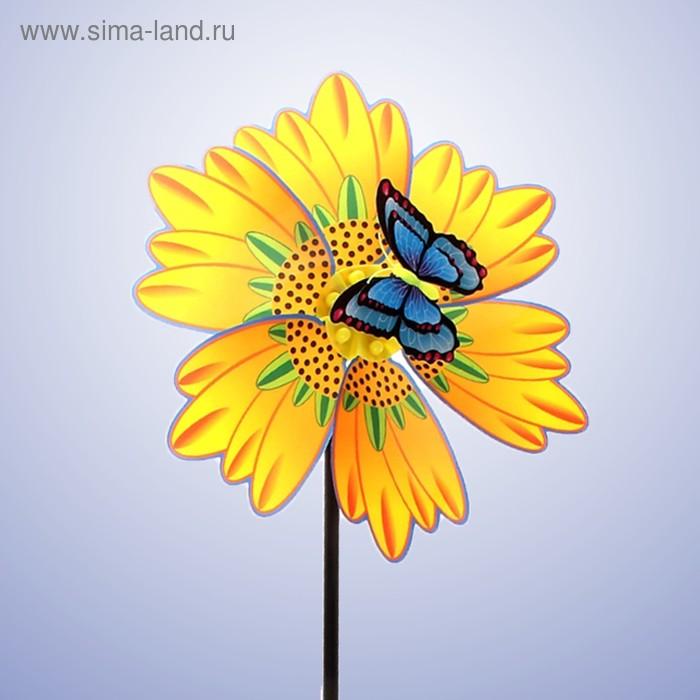 """Ветерок """"Цветок"""" с бабочкой, цвета МИКС"""