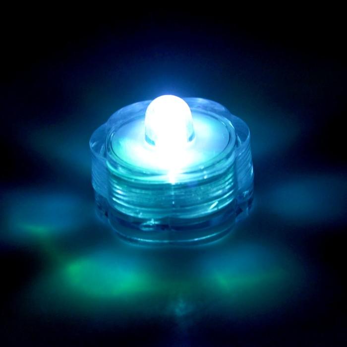 Свеча светодиодная, горит от поворота свечки, переливается разными цветами