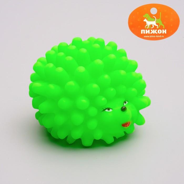 """Игрушка резиновая пищащая """"Ёжик"""" малый для собак, 6,5 см, микс цветов"""