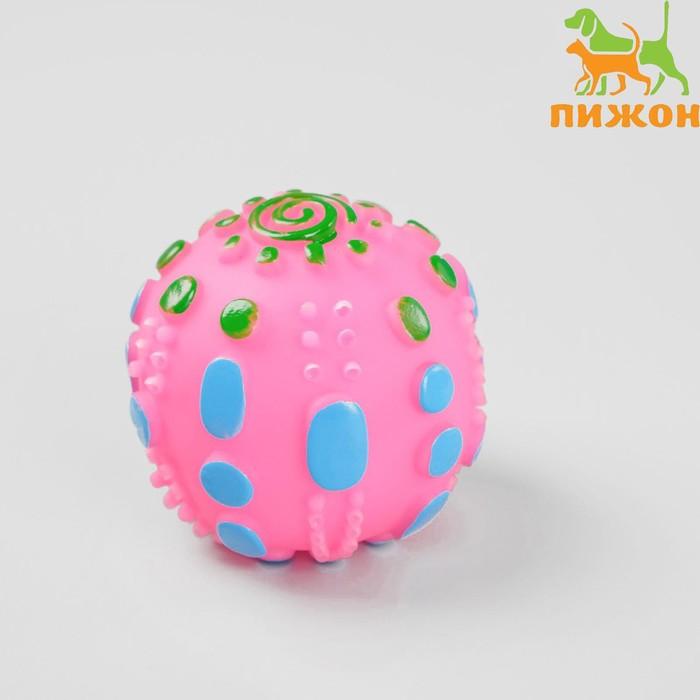 """Игрушка резиновая пищащая """"Чудо-мяч"""", 6,5 см, микс цветов"""