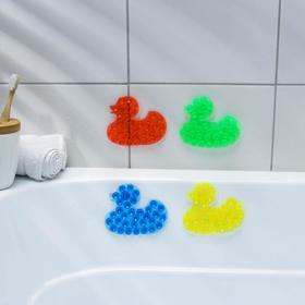Мини-коврик для ванны «Уточка», 9×11 см, цвет МИКС в Донецке