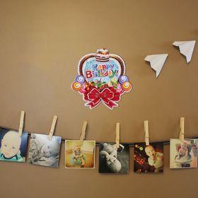 Плакат «С Днём Рождения», бант