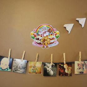 Плакат «С Днём Рождения», торт с мишкой Ош
