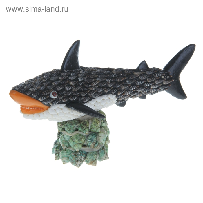 """Сувенир из ракушек """"Акула"""""""