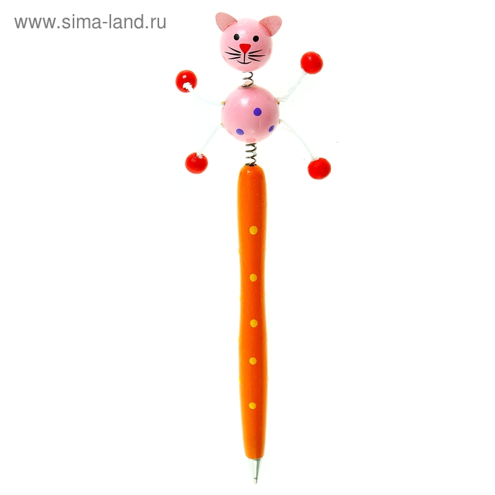 """Ручка деревянная """"Котёнок"""""""