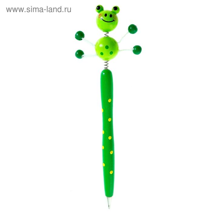 """Ручка деревянная """"Лягушонок"""""""