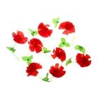 "Гавайская гирлянда ""Цветы"", цвет красный"