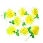 """Гавайская гирлянда """"Пион"""", цвет жёлтый"""