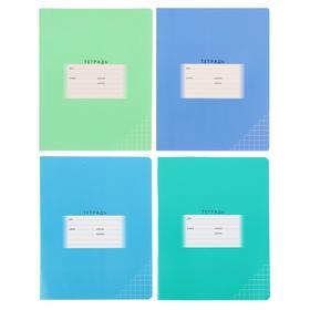 Тетрадь 24 листа в клетку «Школьная», обложка мелованный картон, блок офсет, МИКС