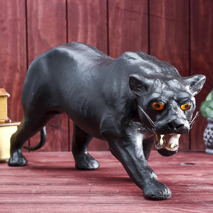 """Сувенир """"Чёрная пантера"""", обтянутый кожей"""
