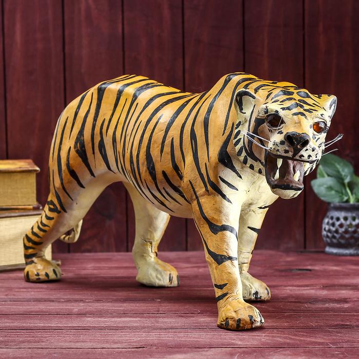 """Сувенир """"Тигр"""", обтянутый кожей"""