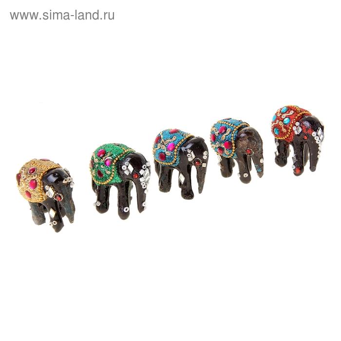 "Сувенир ""Слон"", набор из 5 штук"