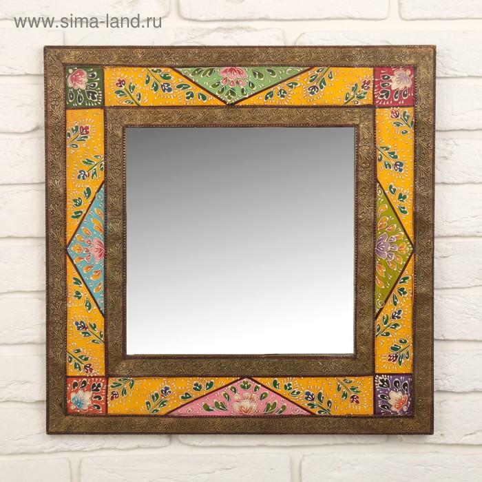 "Зеркало ""Цветные узоры"""