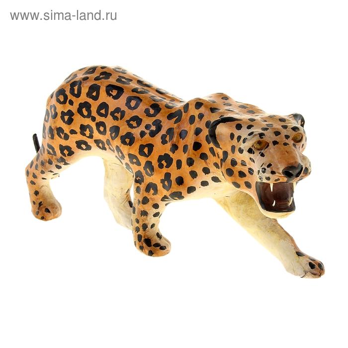 """Сувенир """"Леопард"""", обтянутый кожей"""