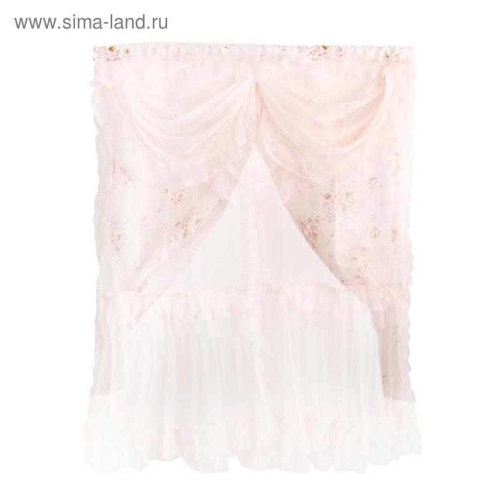 """Занавеска """"Нежность"""", цвет розовый"""