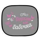 "Шторки на окна авто ""Порхаю как бабочка"" (2 шт.)"