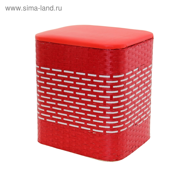 Пуф-короб. цвет красный