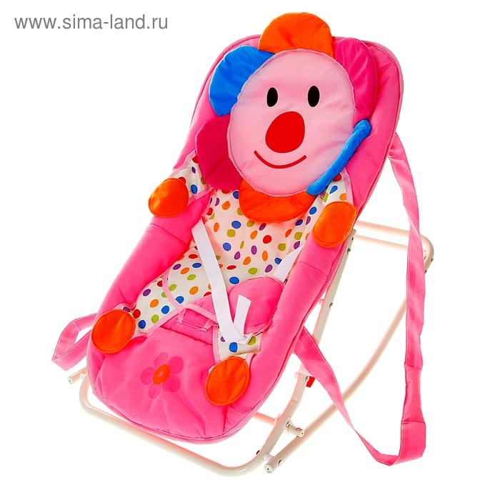 """Детское кресло-качалка """"Цветочек"""" с ручками"""