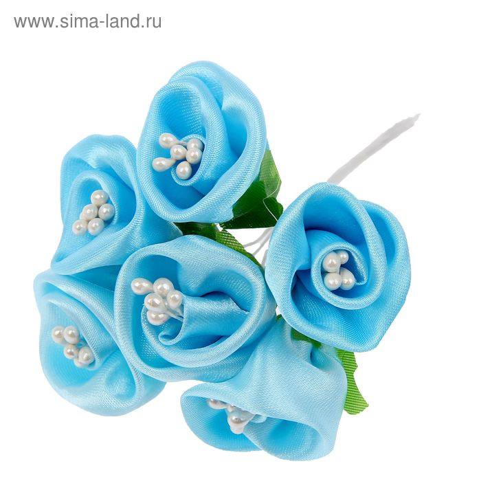 """Декор для творчества """"Нежный цветок"""" (1 набор=1 букету) в букете 6 шт МИКС"""